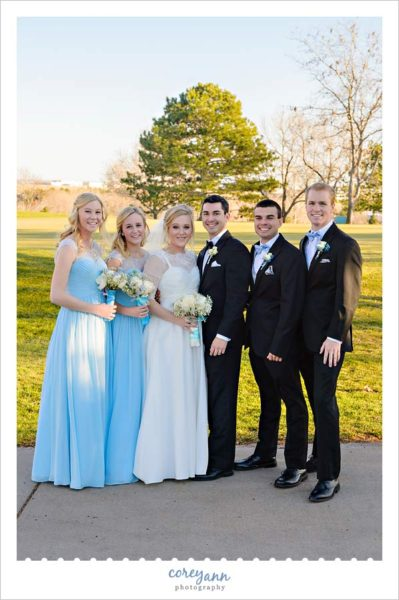 Blue Wedding Party in November