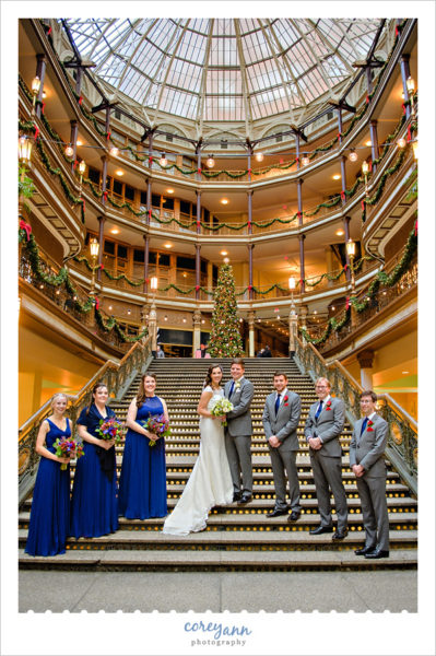 Red and Royal Blue Bridal Party