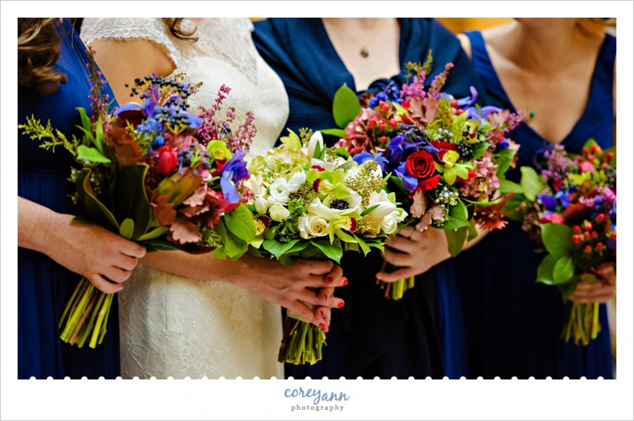 Red and Blue Floral Bouquets in Cleveland