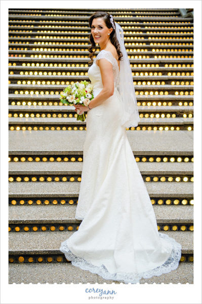 Bride in Augusta Jones Bridal Gown in Cleveland
