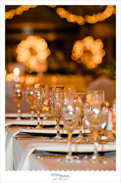 Head Table at Hyatt Cleveland Wedding Reception