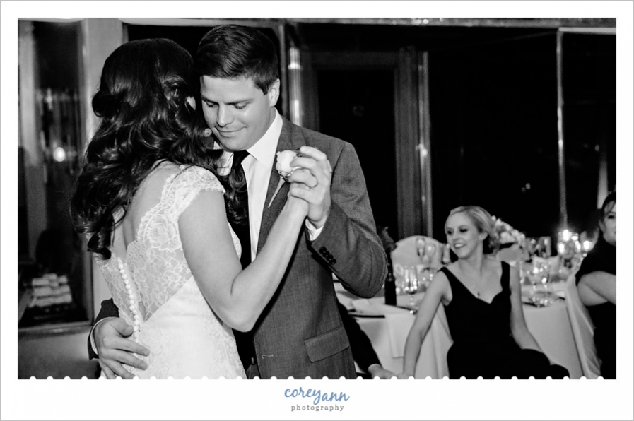 Wedding Reception First Dance at Hyatt Cleveland