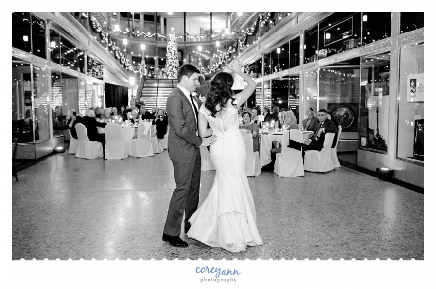 Hyatt Regency Cleveland Arcade Wedding Reception