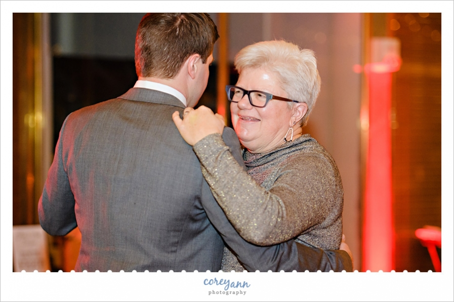 Mother Son Dance at Cleveland Wedding Reception in December
