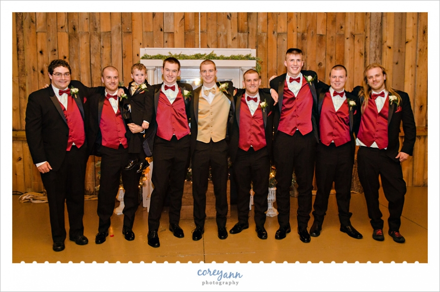 Groomsman at Brookside Farms wedding