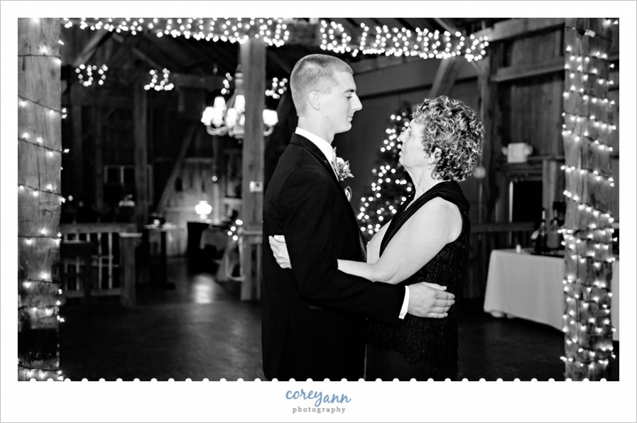 Wedding reception at Brookside Farms in Ohio