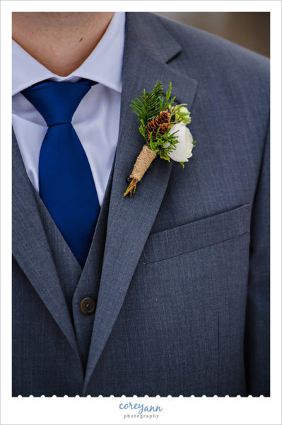 Boutonniere by HeatherLily for winter wedding