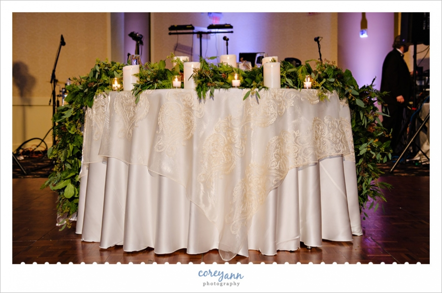 Sweetheart table at LaCentre Wedding