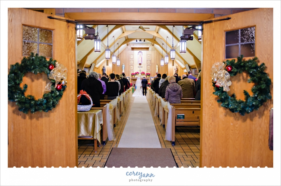 New Years Eve Wedding Ceremony at Corpus Christi in Conneaut
