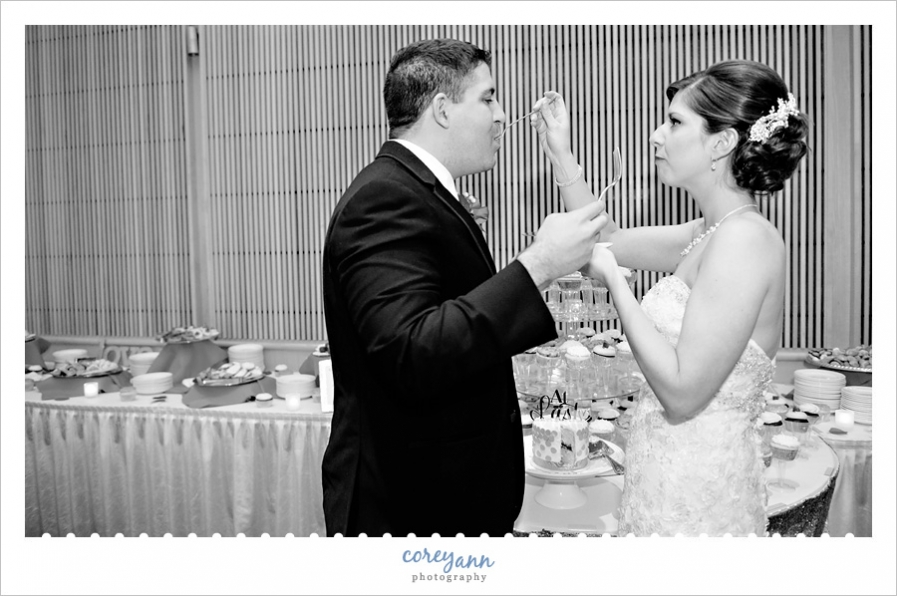 Cake Cutting at Wedding Reception in Erie, PA