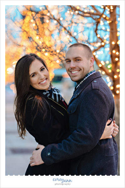cleveland engagement session at night