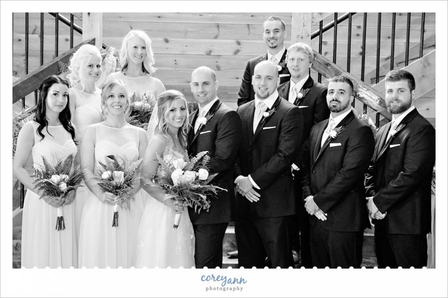 Bridal Party at Mapleside Farms for May Wedding