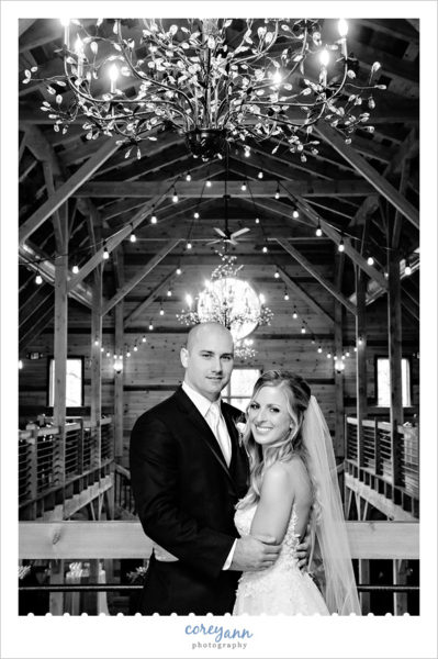 Bride and Groom wedding portrait at Mapleside Farms