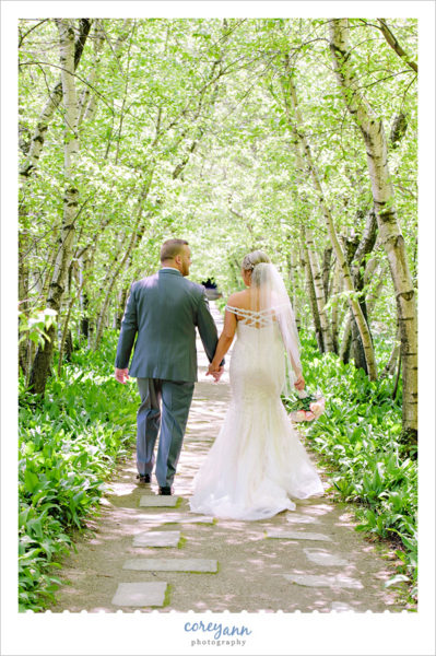 Wedding Portrait in May at Stan Hywet