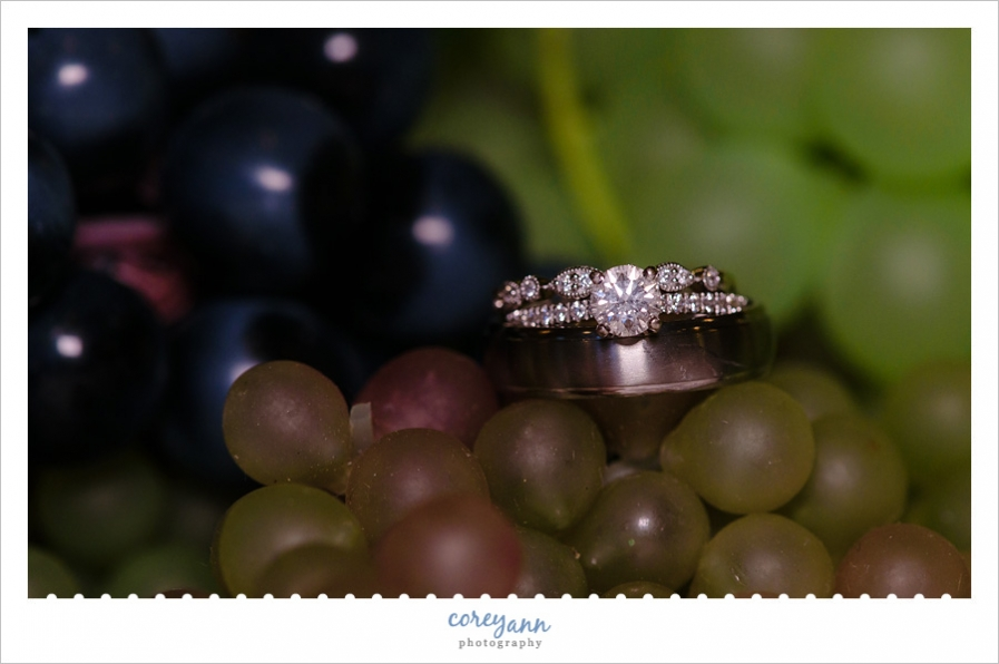 Wedding Rings on Grapes