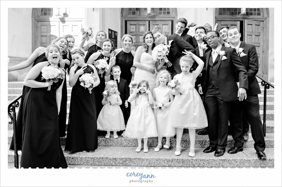 Wedding Bridal Party Silly Photo