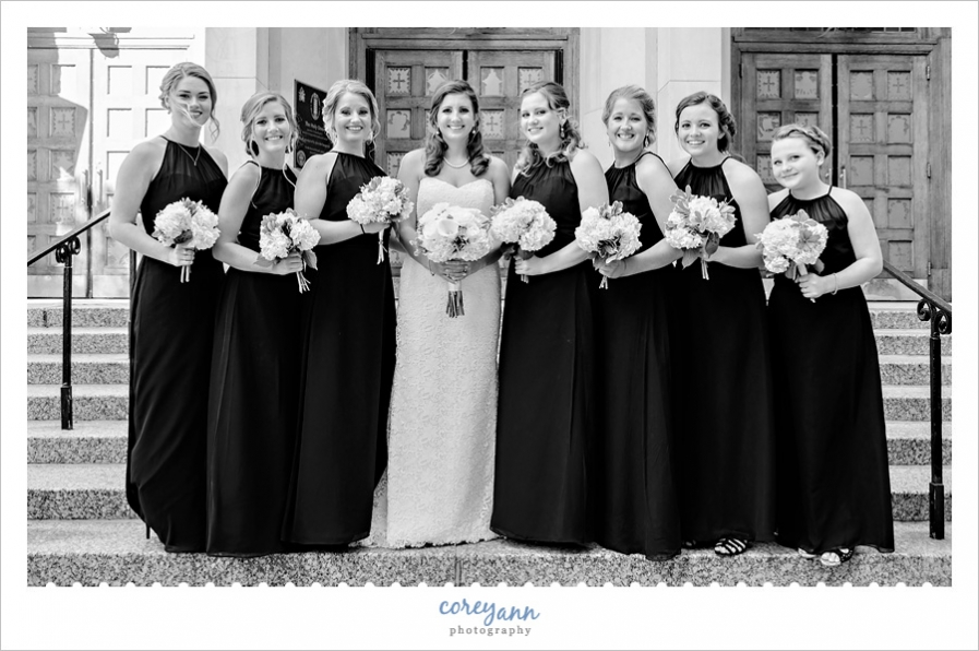 Bride and Bridesmaids in Cleveland