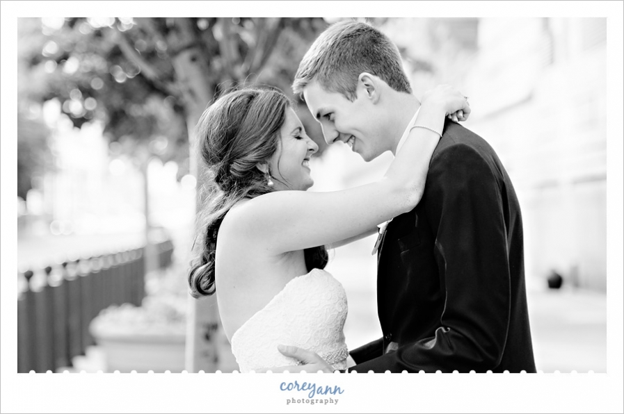 June wedding in downtown Cleveland