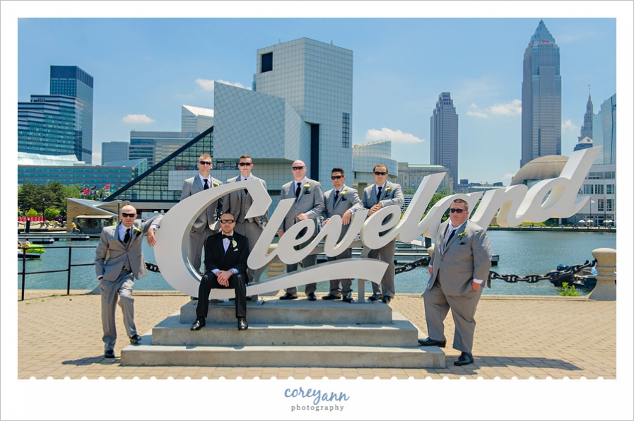 Groomsman at Cleveland Script Sign