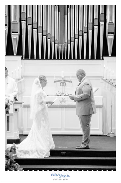 Wedding ceremony at Bath United Church of Christ