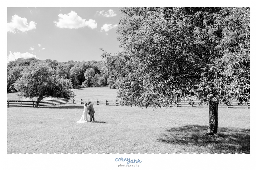 Farm wedding photo in Ohio