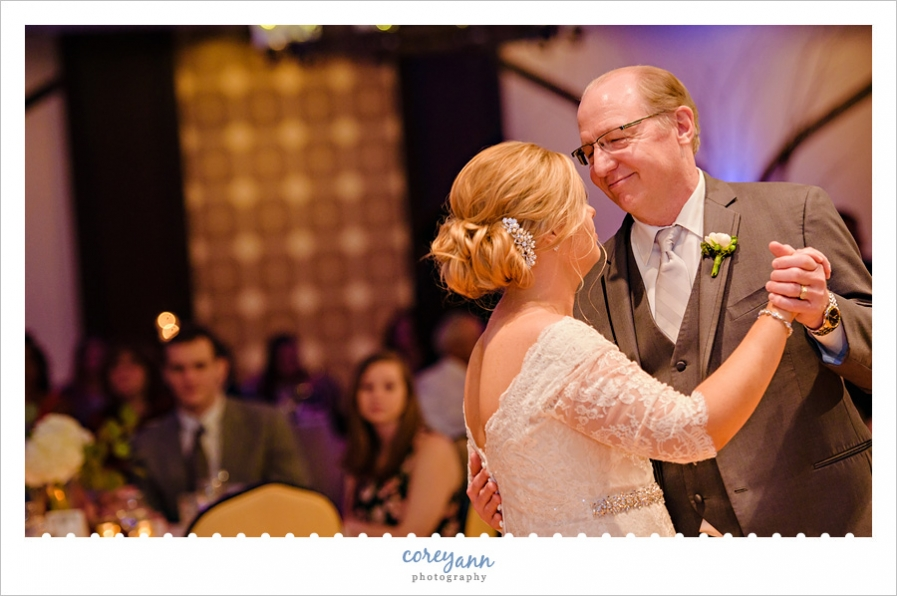 Father and daughter dance at Tangier wedding reception