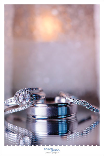 Wedding Rings at Canton Ohio Reception