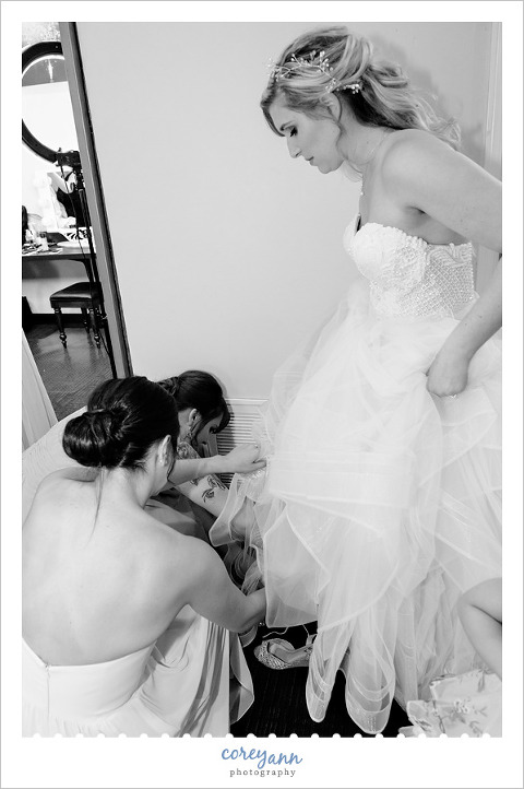 Bride Getting Ready for Wedding at Hyatt in Cleveland