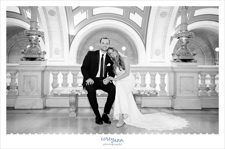 Jessica and John's Wedding Photos at The Old Courthouse in Cleveland