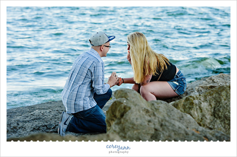 Engagement Proposal at Marblehead Lighthouse