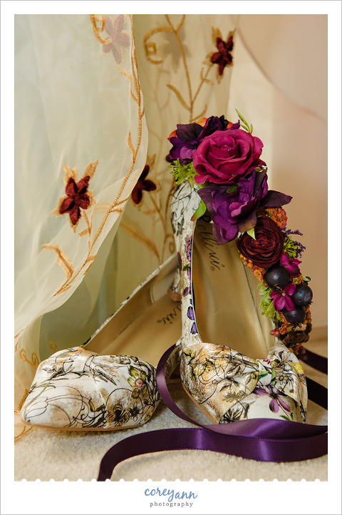 Floral Bridal Wedding Shoes