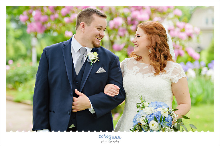 May wedding portrait at Reeves Victorian Home in Dover Ohio