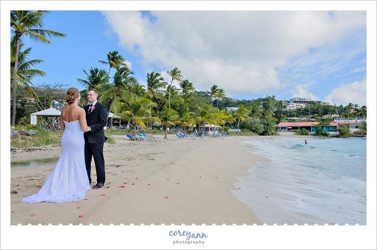 Wedding Ceremony On Lime Tree Beach At Bluebeard S Club St Thomas